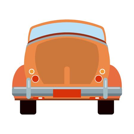 Vintage car convertible backward vehicle vector illustration graphic design