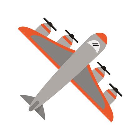 Airplane topview symbol isolated vector illustration graphic design Illustration