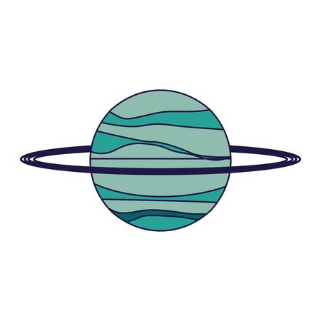 Saturn planet galaxy cartoon isolated vector illustration graphic design vector illustration graphic design Ilustrace