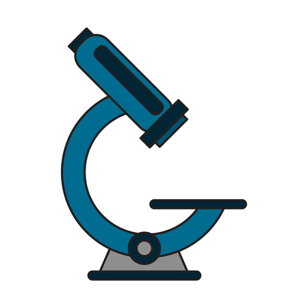 Microscope scientific tool symbol vector illustration graphic design