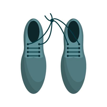 Caricature de topview de chaussures pour hommes Elegan Vecteurs