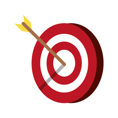 Target goal with arrow symbol isolated vector illustration graphic design