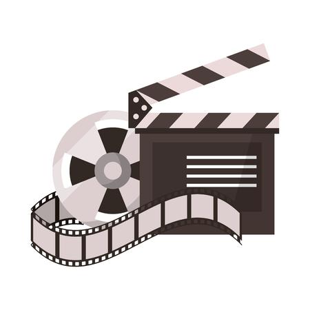 Équipement de cinéma et dessins animés de films vector illustration graphisme