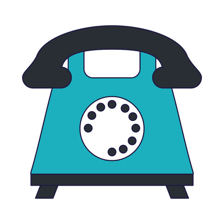Vintage telephone symbol cartoon vector illustration graphic design
