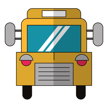 school bus icon cartoon isolated vector illustration graphic design Ilustração