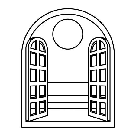 Diseño gráfico del ejemplo del vector de la historieta de la palma de la playa Ilustración de vector