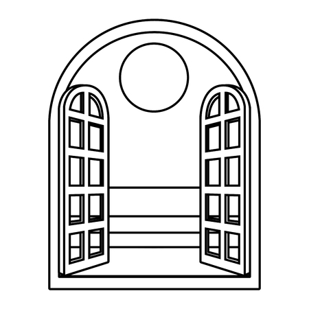 disegno grafico dell'illustrazione di vettore del fumetto della palma da spiaggia Vettoriali