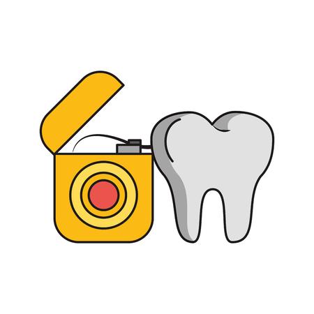 Dental care health and hygiene symbols and elements vector illustration graphic design Stok Fotoğraf - 122409729