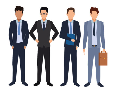 executive business men cartoon vector illustration graphic design Standard-Bild - 122409874