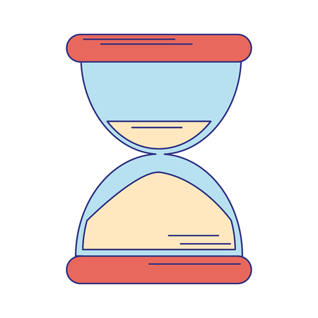 Hourglass sandtime symbol isolated vector illustration graphic design Ilustração