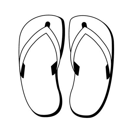 Flip flop sandalias calzado ilustración vectorial diseño gráfico