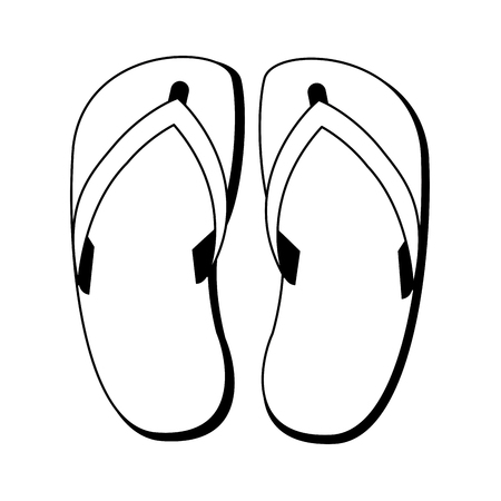 flip flop sandals footwear vector illustration graphic design