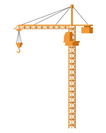 Diseño gráfico del ejemplo del vector aislado de la maquinaria de la grúa de Cronstruction