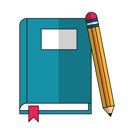book and pencil icon cartoon vector illustration graphic design Banco de Imagens - 122412576