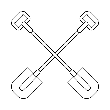 Garden shovels tools crossed symbol Design