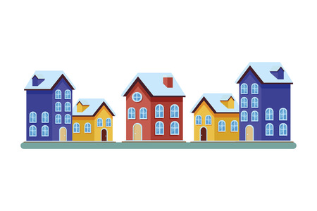 house and building icons vector illustration graphic design