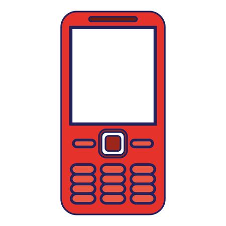 Cellphone communication device isolated icon ilustration vector Illusztráció