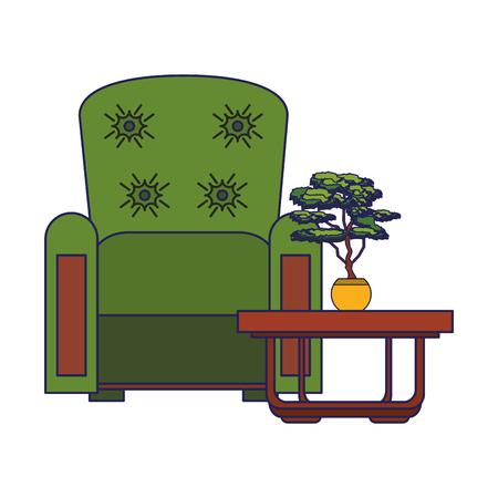 furniture concept couch scene cartoon vector illustration graphic design