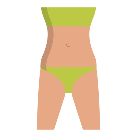 Woman body cartoon isolated vector illustration graphic design 向量圖像