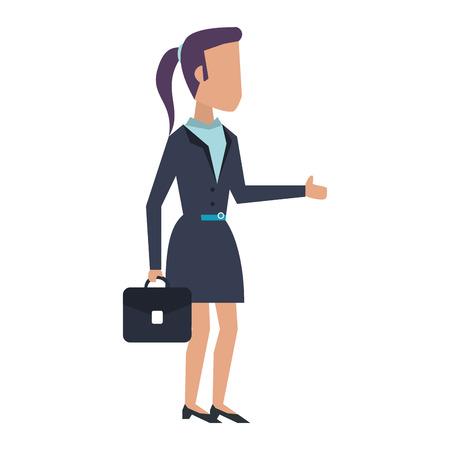 Executive businesswoman with briefcase avatar vector illustration graphic design Standard-Bild - 122273602