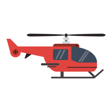 Helicopter aircraft vehicle symbol vector illustration graphic design