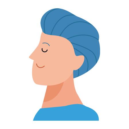 man portrait avatar cartoon character vector illustration graphic design 向量圖像