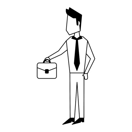 Executive businessman with briefcase avatar vector illustration graphic design Stock Illustratie