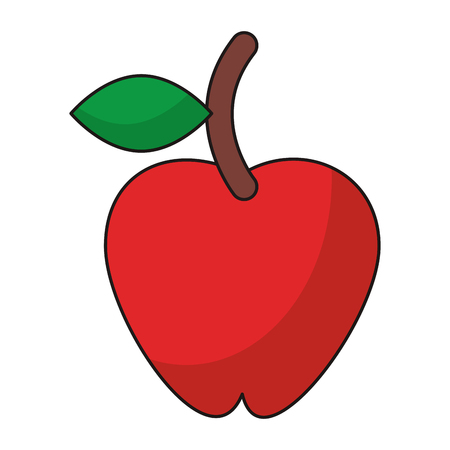 Apple fruit healthy food isolated vector illustration graphic design