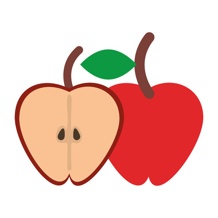 Apple Healthy Food Fruit isolated vector illustration graphic design Ilustracja