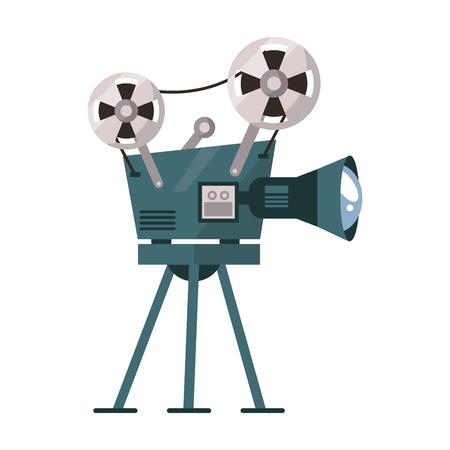 Cinema equipment and movies cartoons vector illustration graphic design