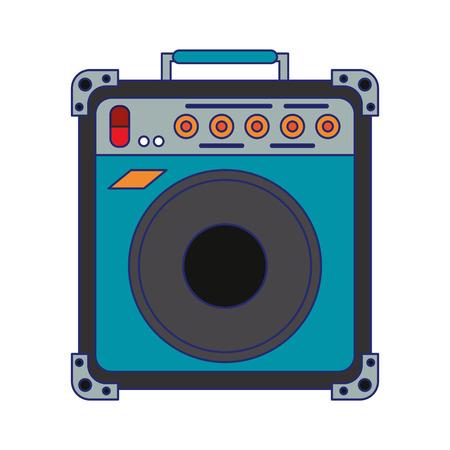 Retro music speaker device vector illustration graphic design