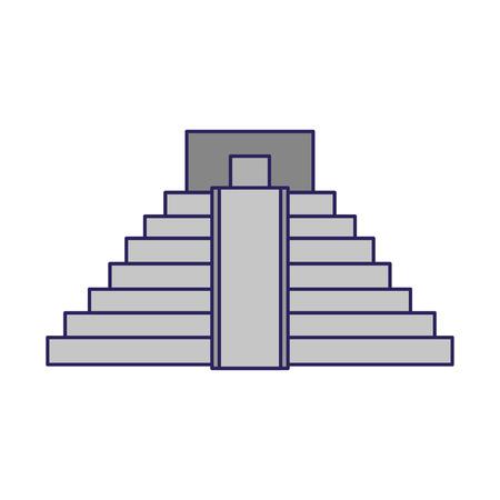 Pyramide mexicaine symbole du bâtiment vector illustration graphic design