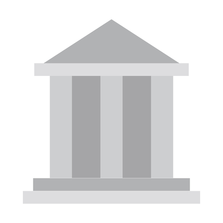Bank building symbol isolated vector illustration graphic design