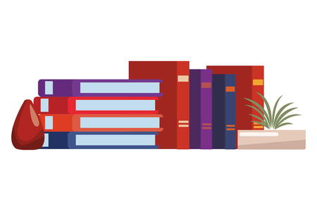 pile of books icon  vector illustration graphic design Zdjęcie Seryjne - 122418737