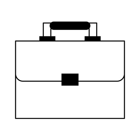 executive suitcase cartoon vector illustration graphic design in black and white