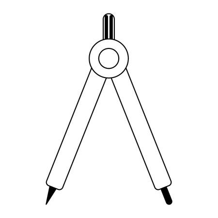 Compass geometric utensil cartoon Design Illustration