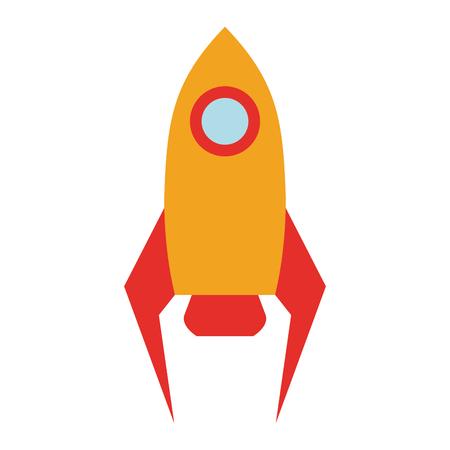 Rocket spaceship symbol isolated vector illustration graphic design Ilustrace