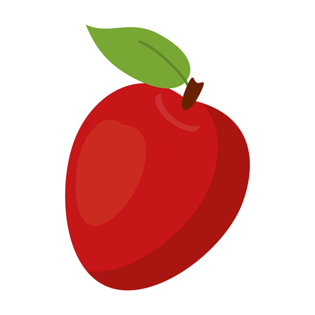 Apple fruit fresh food isolated vector illustration graphic design