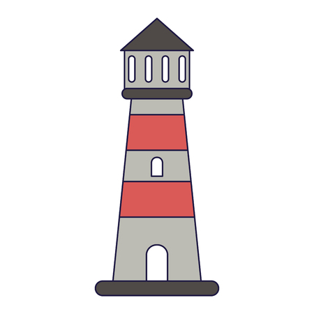 Beach lighthouse symbol cartoon vector illustration graphic design vector illustration graphic design Ilustração