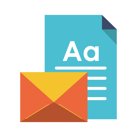 Business document and email symbol vector illustration graphic design Çizim