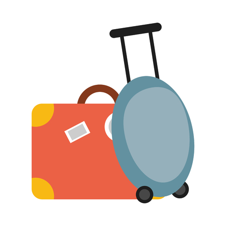 Travel luggage and suitcase symbol vector illustration graphic design Vectores