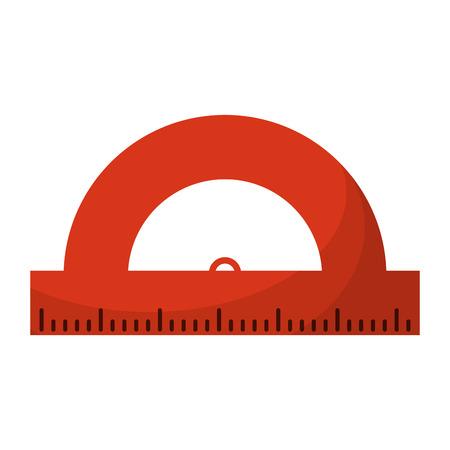 Ruler compass geometric utensil cartoon Illustration