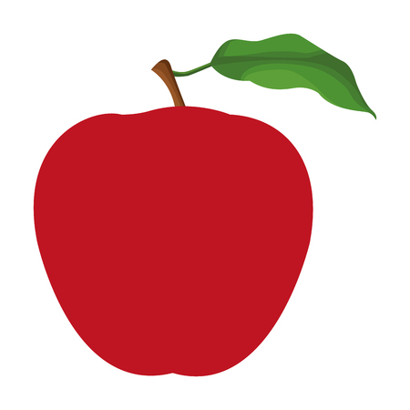 apple icon cartoon isolated vector illustration graphic design