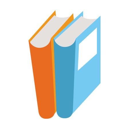 Books stacked education symbol vector illustration graphic design