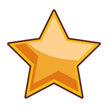 star icon cartoon vector illustration graphic design