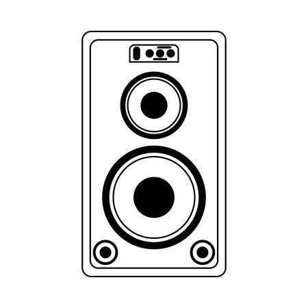 Party music speaker with bass vector illustration graphic design Ilustração Vetorial