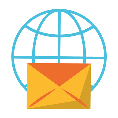 Email global shere symbol isolated vector illustration graphic design