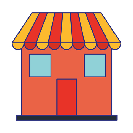Store shop building symbol vector illustration graphic design