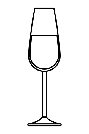 glass of wine icon isolated black and white vector illustration graphic design