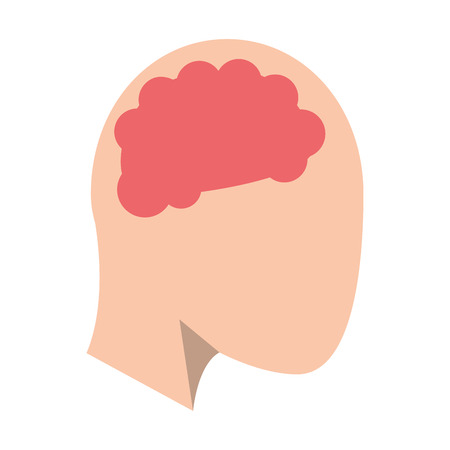 Human head with brain symbol vector illustration graphic design